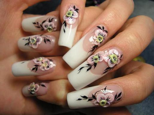 Наращивание ногтей плюс маникюр